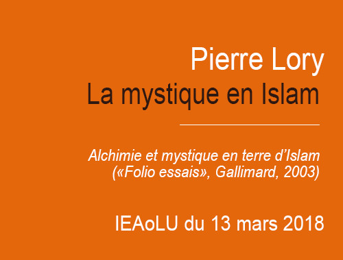 IEAoLU Tuesday : lecture by Pierre Lory